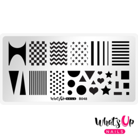 Whats Up Nails - Stamping Plate - B048 Simple Shapes