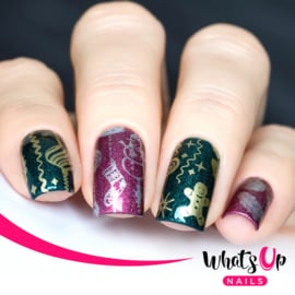 Whats Up Nails - Stamping Plate - A013 It's a Merry Christmas