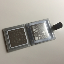 Clear Jelly Stamper - Snap - Small  Holo Plate Holder -  Holo Silver (6x6)