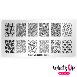 Whats Up Nails - Stamping Plate - B021 Autumn Tales