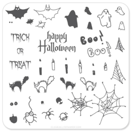 Clear Jelly Stamper - Stamping Plate - CJS_H04 - Halloween - Trick or Treat