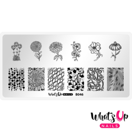 Whats Up Nails - Stamping Plate - B046 Petal to the Metal