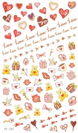 Waterdecals - Love Letters