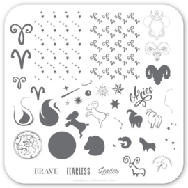 Clear Jelly Stamper - Stamping Plate - CJS_Z02 - Aries