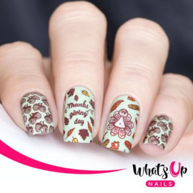 Whats Up Nails - Stamping Plate - B033 Does It Look Like I Give A Fall