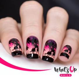 Whats Up Nails - Stamping Plate - B028 Tropical Escape