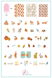 Clear Jelly Stamper - Big Stamping Plate - CJS_148 - Autumn Acorns
