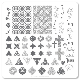 Clear Jelly Stamper - Medium Stamping Plate - CJS_H49 - Celtic Charm