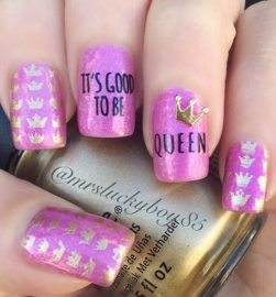 UberChic - Big Nail Stamping Plate - Fairytale - 01