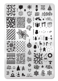 UberChic - Big Nail Stamping Plate - Holiday Jingle