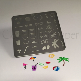 Clear Jelly Stamper - Stamping Plate - CJS_16 - Summer Fun