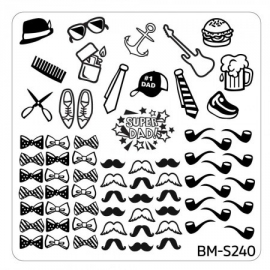 Bundle Monster - Father's Day Nail Stamping Plate - Occasion Collection, Super Dad