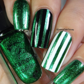 Clear Jelly Stamper Polish - #61 Glitzy Evergreen