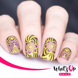Whats Up Nails - Stamping Plate - B027 The Art of Henna