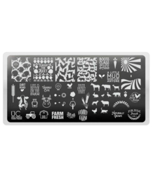UberChic - Mini Nail Stamping Plate - Farm Fresh
