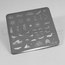 Clear Jelly Stamper - Stamping Plate - CJS_06 - By the Sea