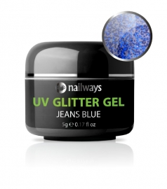 UV GLITTER GEL - Jeans Blue