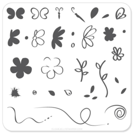Clear Jelly Stamper - Stamping Plate - CJS_04 - Infinite Flower