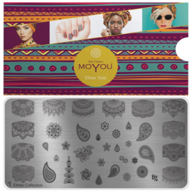 Moyou Nail Fashion - XL Stamping Plate - Ethic Collection - 1