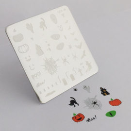 Clear Jelly Stamper - Stamping Plate - CJS_H06 - Halloween - Boo!