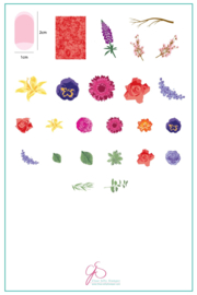 Clear Jelly Stamper - Big Stamping Plate - CJS_LC13 - Rose's Floral Garden