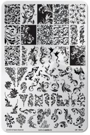Lina - Stamping Plate - Twirls & Swirls - 02