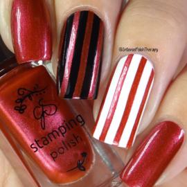 Clear Jelly Stamper Polish - #33 Crimson Crush