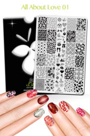 Lina - Stamping Plate - All About Love - 01