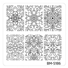 Bundle Monster - Mystic Woods Nail Stamp Plate - Nature's Kaleidoscope
