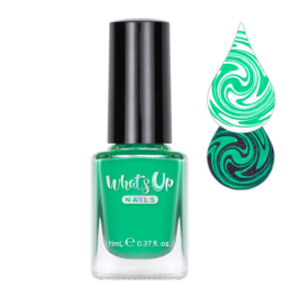 Whats Up Nails - Stamping polish - WSP034.  Little Green Men