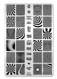 UberChic - Big Nail Stamping Plate - Op Art Magic