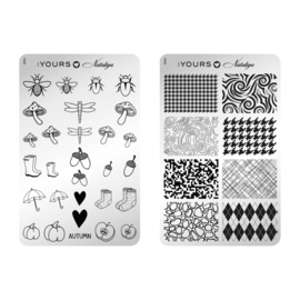 Yours Cosmetics - Stamping Plates - :YOURS Loves Nataliya - YLN08. Graphic Autumn (double sided)