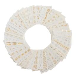 Waterdecalset - Gold & Silver (30 stuks)