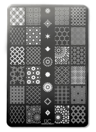 UberChic - Big Nail Stamping Plate - Moroccan Beauty