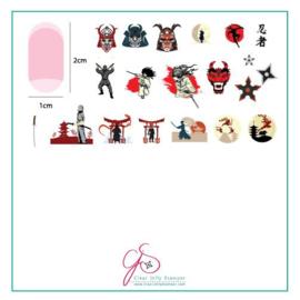 Clear Jelly Stamper - Medium Stamping Plate - CJS_LC72 - Samurai