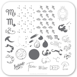 Clear Jelly Stamper - Stamping Plate - CJS_Z09 - Scorpio