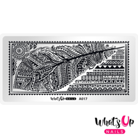 Whats Up Nails - Stamping Plate - A017 Tribal Feather