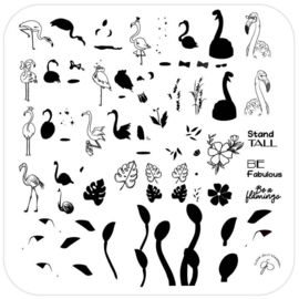 Clear Jelly Stamper - Medium Stamping Plate - CJS_93 - Lil Flamingo