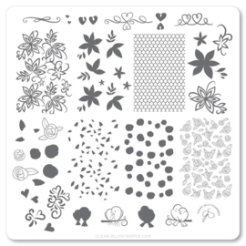 Clear Jelly Stamper - Medium Stamping Plate - CJS_V25 - Lace & Floral
