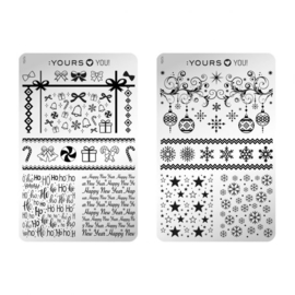 Yours Cosmetics - Stamping Plates - YOURS Loves YOU – YLY04. Take a bow (double sided)