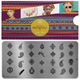 Moyou Nail Fashion - XL Stamping Plate - Ethic Collection - 4