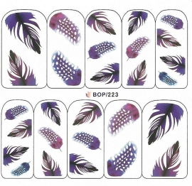 Waterdecals - Purple Feathers