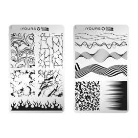 Yours Cosmetics - Stamping Plates - :YOURS Loves Sascha - YLS33. Fine Marble (double sided)