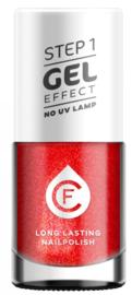 CF Gel Effekt Nagellak - Step 1 - 207. Christmas Red Sparkle