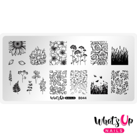 Whats Up Nails - Stamping Plate - B044 From Ground Comes Life