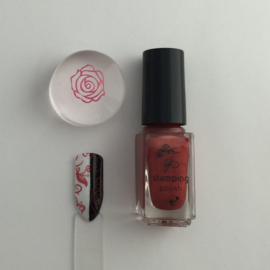 Clear Jelly Stamper Polish - #24 Copper Rose