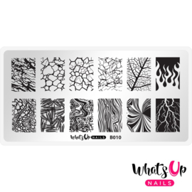 Whats Up Nails - Stamping Plate - B010 Texture Me Nature