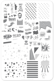 Clear Jelly Stamper - Big Stamping Plate - CJS_62 - Independence Day