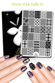 Lina - Stamping Plate - Dress Your Nails - 01