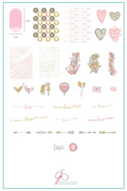 Clear Jelly Stamper - Big Stamping Plate - CJS_V17 - My Secret Crush